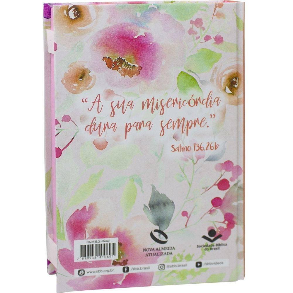 Bíblia Sagrada Floral Nova Almeida Atualizada Capa Dura