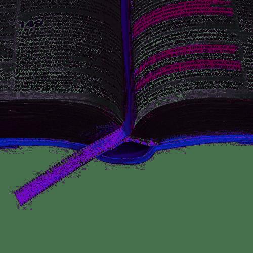 Bíblia Sagrada Fonte de Benção - Capa Lilás Com Bolso