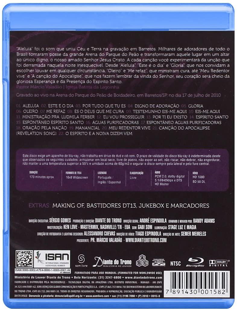 Blu-Ray Diante do Trono 13 - Aleluia