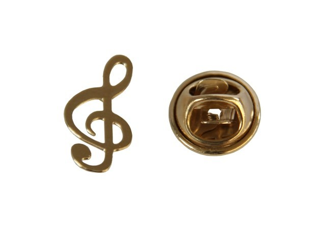 Broche - Clave de Sol Musical - Folheado a Ouro 18K