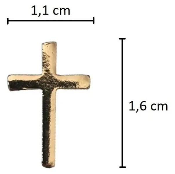 Broche - Cruz - Folheado a Ouro 18K