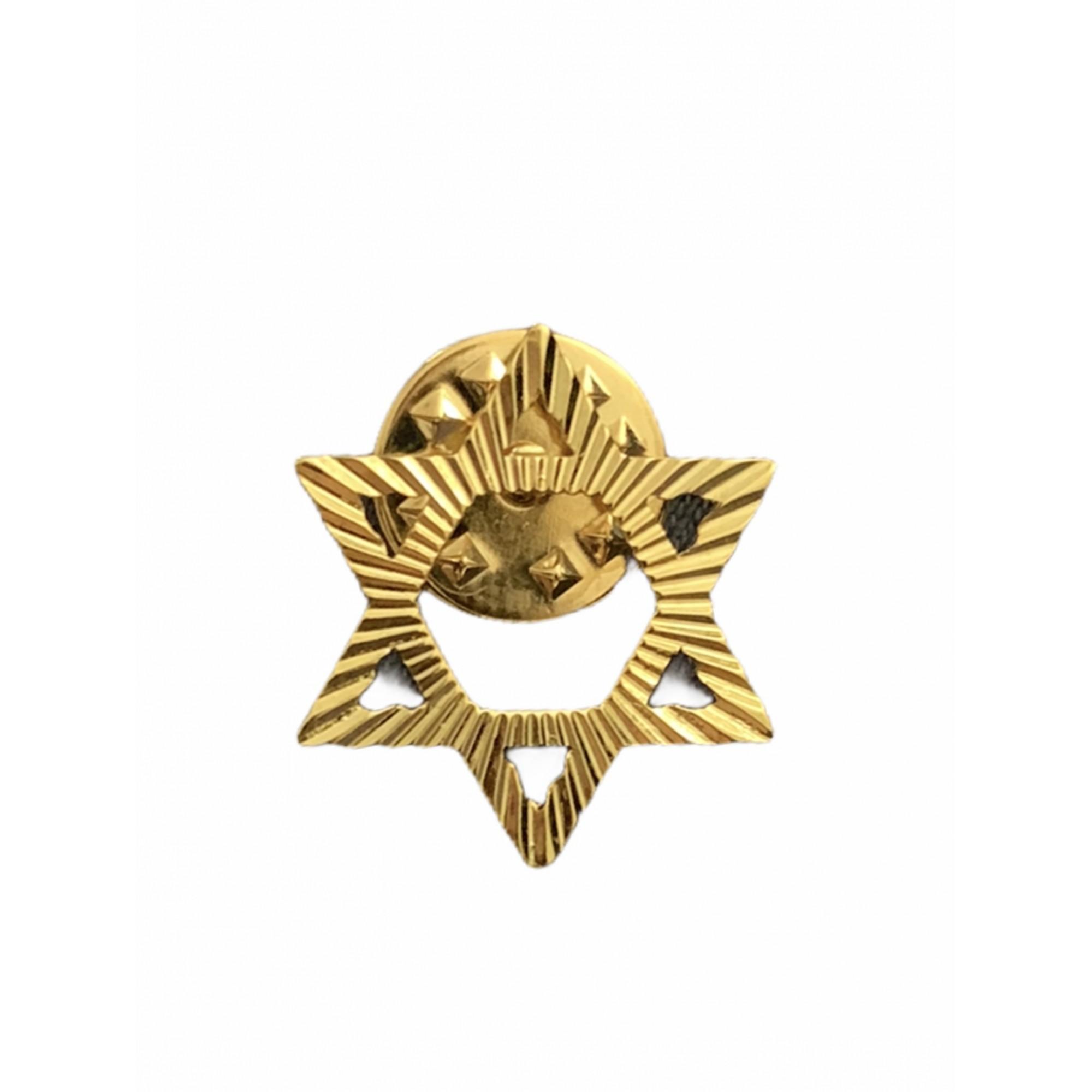 Broche - Estrela de Davi - Folheado a Ouro 18K