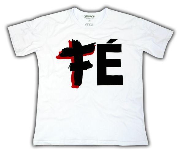 Camiseta Branca Fé Cruz