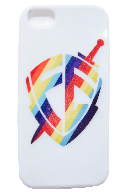 Capa para Celular iPhone - Escudo Fé Capa Branca