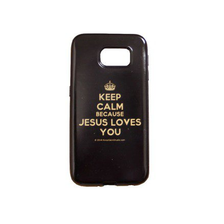 Capa para Celular Samsung Galaxy - Keep Calm Because Jesus Loves You