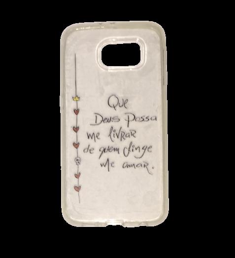 Capa Transparente para Celular Samsung Galaxy - Que Deus Possa