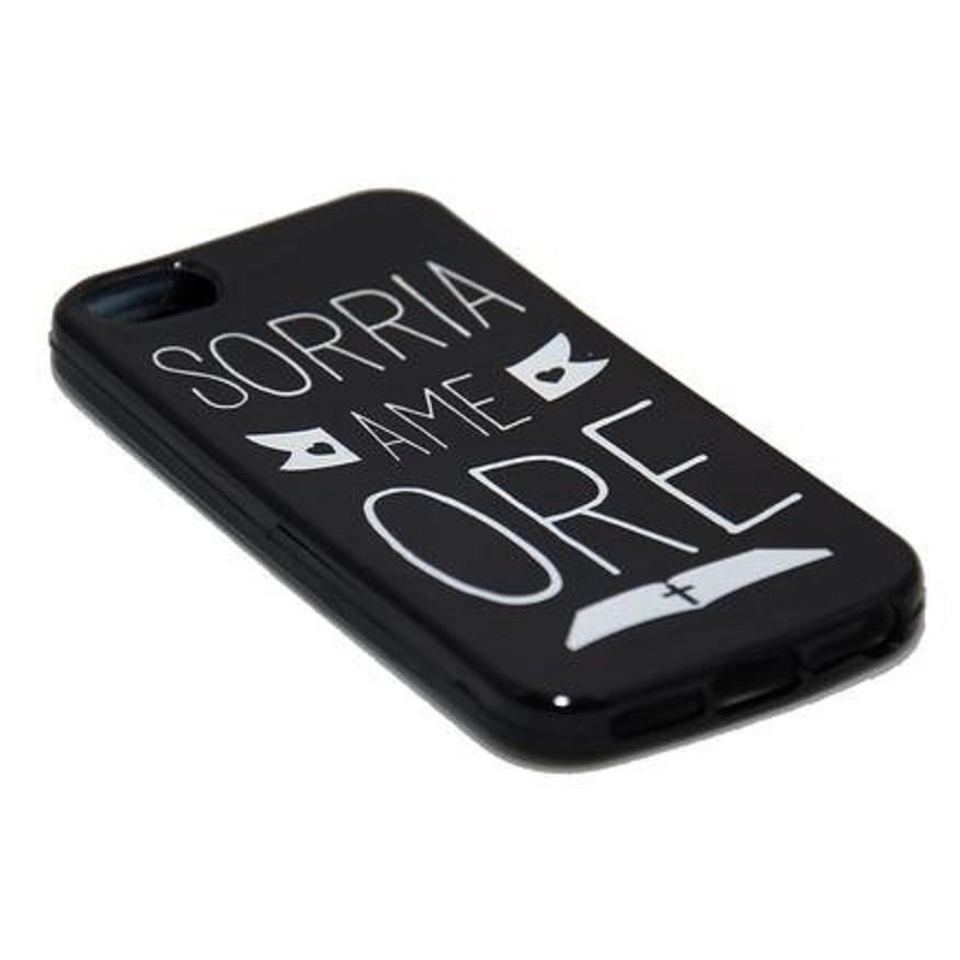 Capinha para Celular iPhone Preta - Sorria Ame Ore