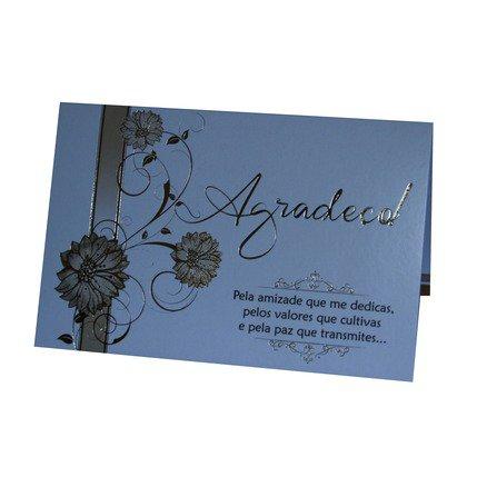 Cartão Para Presente Com Envelope Branco e Dourado - Agradeço!