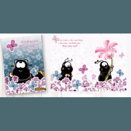 Cartão Para Presente com Envelope - Smilinguido Eu Amo Você