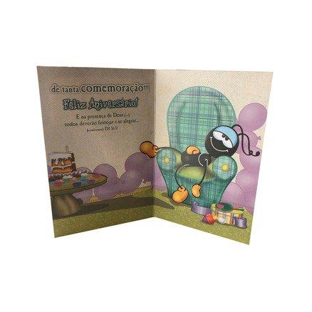 Cartão Para Presente com Envelope - Smilinguido No Seu Aniversario