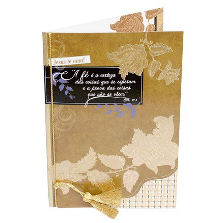 Cartão Para Presente Dourado - Versículo Hebreus 11:1
