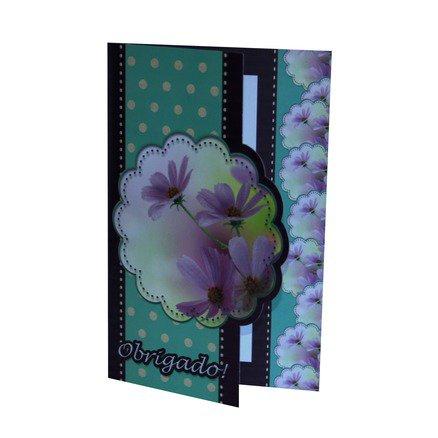 Cartão Para Presente Flor - Obrigado!