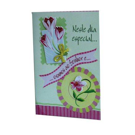 Cartão Para Presente Flores - Neste Dia Especial, Oramos Ao Senhor