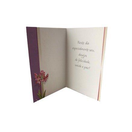 Cartão Para Presente Flores - O Senhor é Meu Pastor