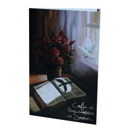Cartão Para Presente Pomba - Confia os Teus Caminhos ao Senhor..
