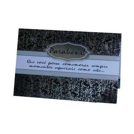 Cartão Para Presente Prata - Parabéns! Que Você Possa Comemorar Sempre Momentos Especiais...