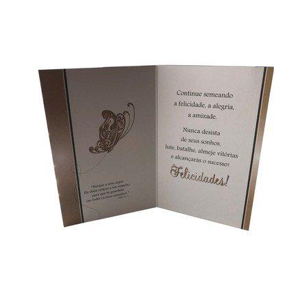 Cartão Para Presente Preto Borboleta - Semeie, Cultive, Sonhe...