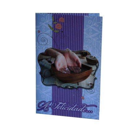 Cartão Para Presente Roxo - A Felicidade...