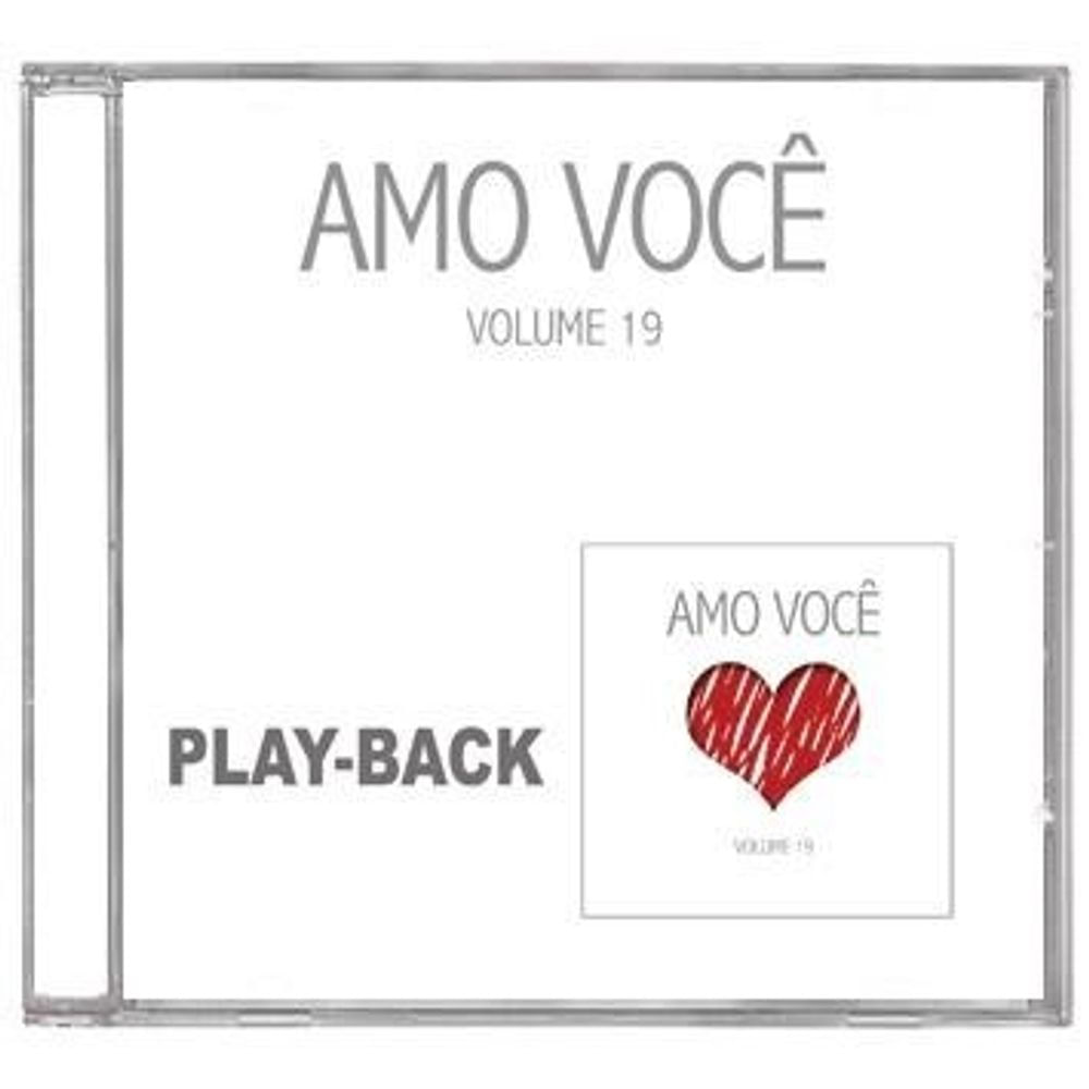 CD Amo Você PlayBack - Volume 19