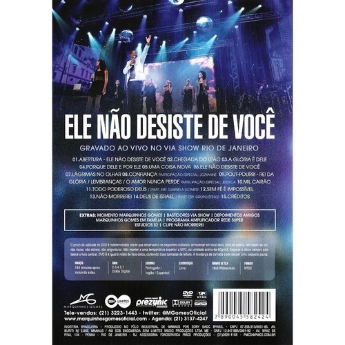 CD + DVD Marquinhos Gomes - Ele Não Desiste De Você