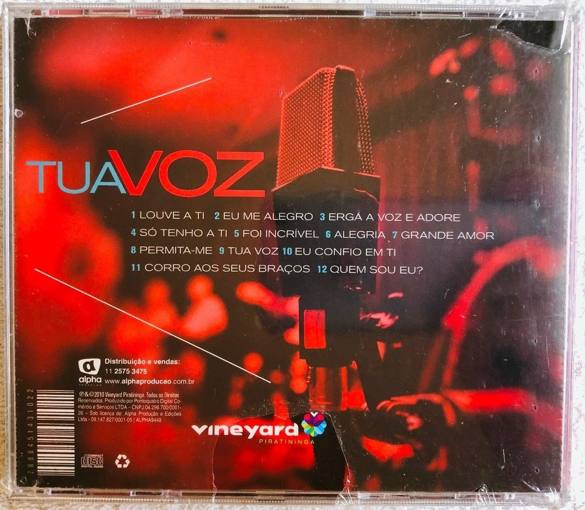 CD Vineyard - Tua Voz