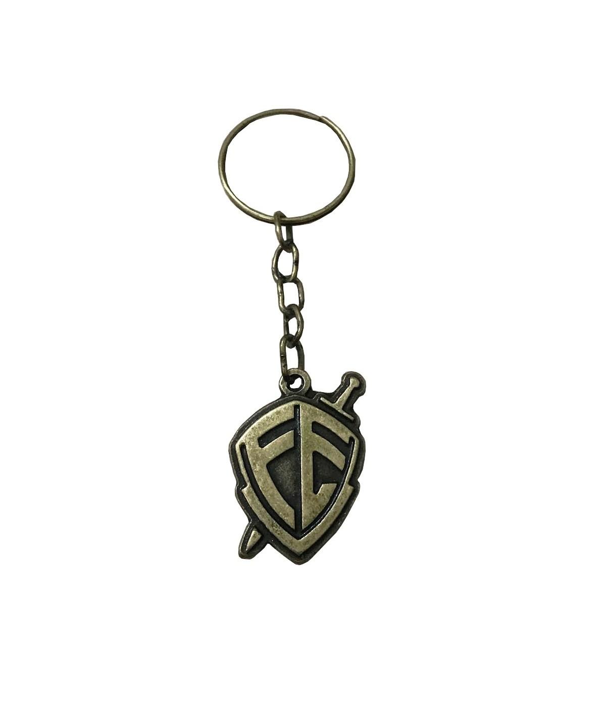 Chaveiro Metal Escudo Fé Bronze