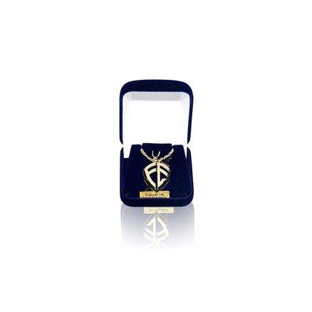 Conjunto Caixa com Pingente e Corrente Folheado a Ouro 18K Moda Evangelica - Escudo Fé