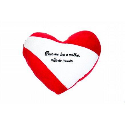 Coração Love Pelúcia - Deus me deu a melhor mãe do mundo