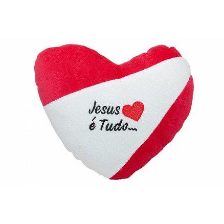 Coração Love Pelúcia - Jesus é Tudo