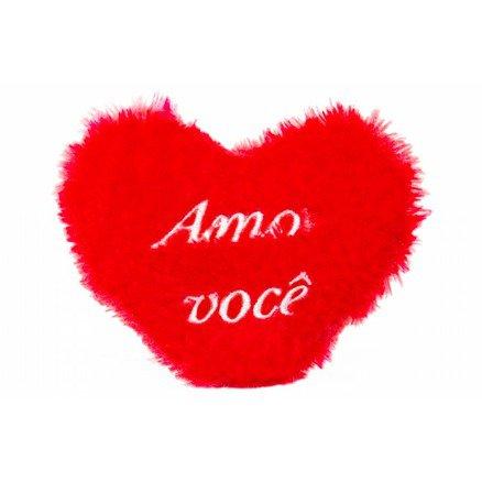Coração Miniatura Pelúcia - Amo Você