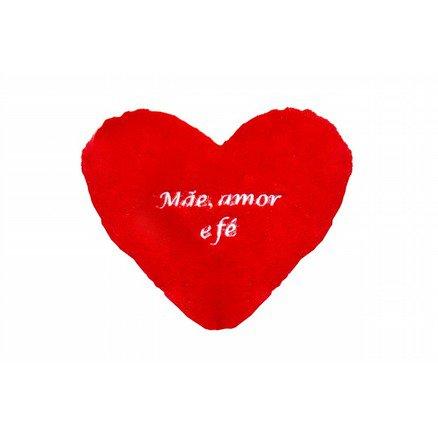 Coração PP Pelúcia - Mãe, Amor e Fé