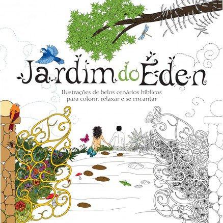 Livro de Colorir - Jardim do Eden Ilustrado - Grátis Caixa de Lapis de Cor 12 Cores