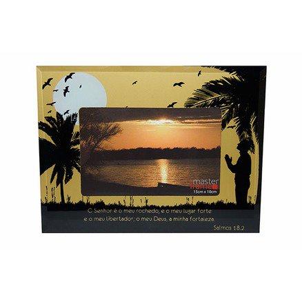 Porta Retrato Pássaro 20x15 Salmo Horizontal