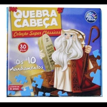 Quebra Cabeça 80 peças - Os Dez Mandamentos