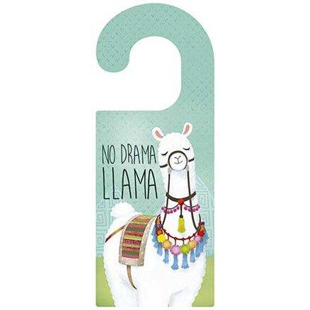Tag Porta + Lousa - No Drama Lhama