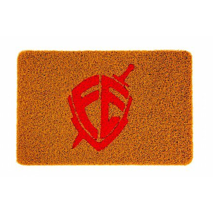 Tapete 60x40 Dourado - Escudo Fé Vermelho