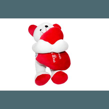 Urso Carinhoso Pelúcia - Nosso Amor Vem de Deus