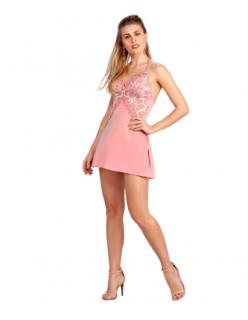 Camisola Romântica Sexy Peach Amber Renda Fruit de La Passion