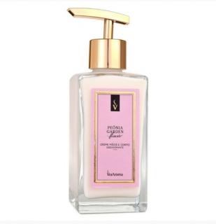 Creme Mãos e Corpo Desodorante 250ml Peônia Garden Via Aroma