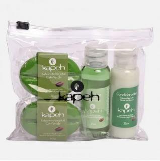 Kit Mini Necessaire Cuidados com o Corpo - Café Verde