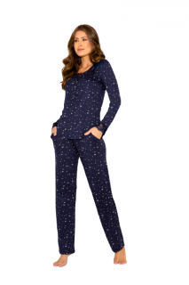 Pijama Feminino Inverno Azul Flores AnyAny