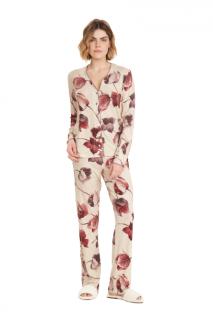 Pijama Feminino Inverno c/ Abertura de Botões Cor Com Amor