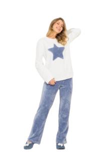 Pijama Feminino Inverno Estrela Soft AnyAny