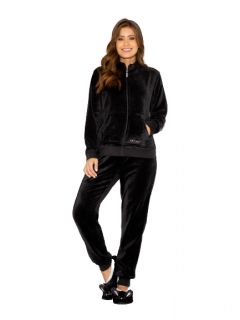 Pijama Feminino Inverno Fleece Homewear Preto AnyAny