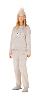 "Pijama Feminino Inverno Fleece ""Let's Be Friends"" Pzama"
