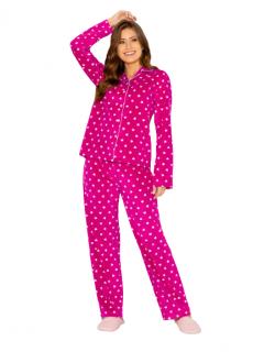 Pijama Feminino Inverno Fleece Pink Hearts AnyAny