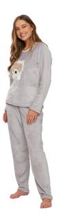 Pijama Feminino Inverno Fleece Ursinho Recco