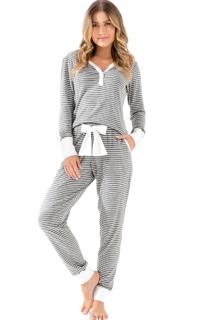 Pijama Feminino Inverno Mescla Listrado MIXTE