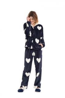 Pijama Feminino Inverno Soft c/ Abertura Botões Cor Com Amor