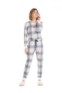 Pijama Feminino Inverno Xadrez Cor Com Amor